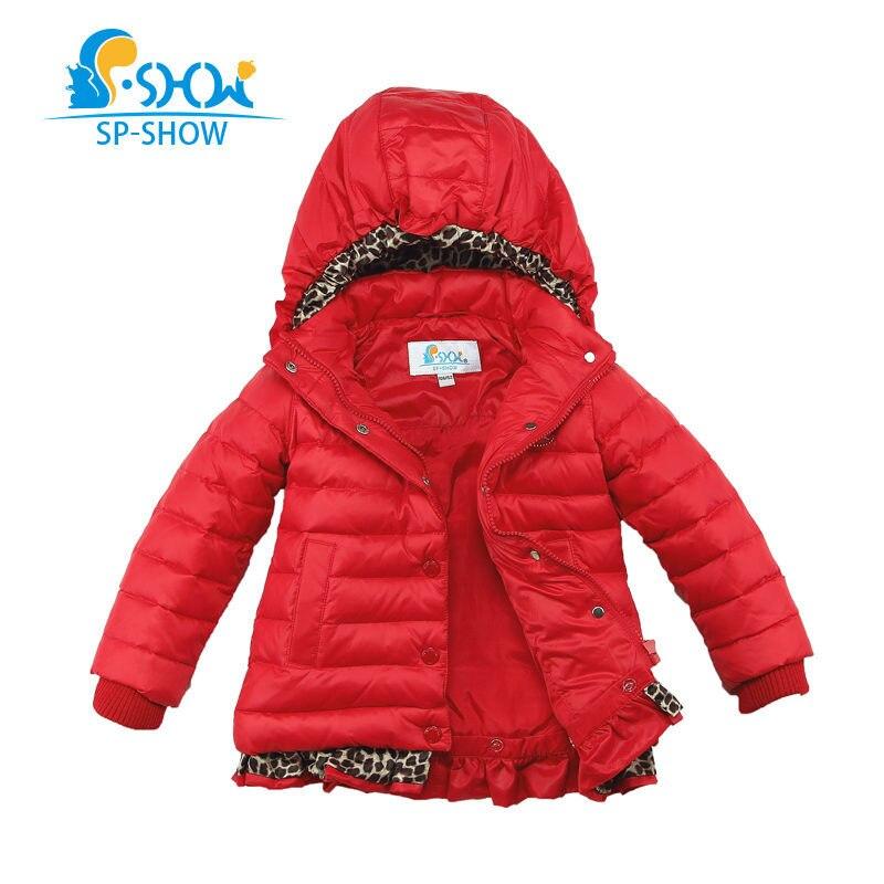 пуховик для ребенка 6 лет - SP-SHOW Winter Children Grils Coat Hooded For 3-6 Age Kids Snowsuit Winter Jacket Brand Down & Parkas 2611