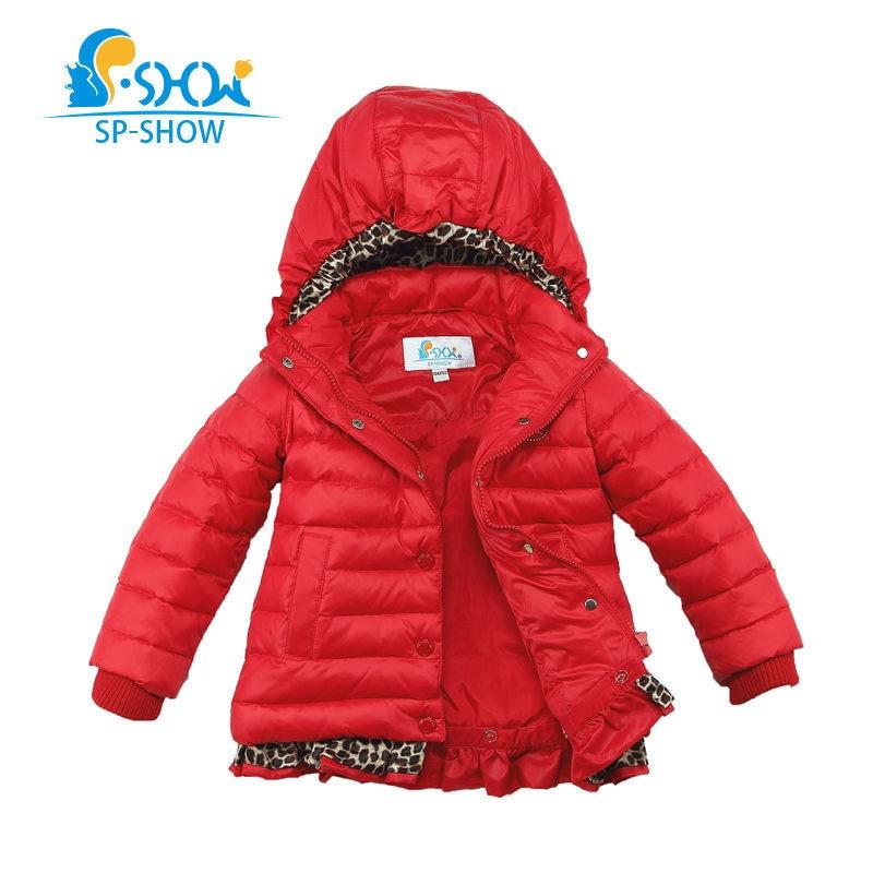 SP SHOW Winter Children Grils Coat Hooded For 3 6 Age Kids Snowsuit Winter Jacket Brand Down & Parkas 2611