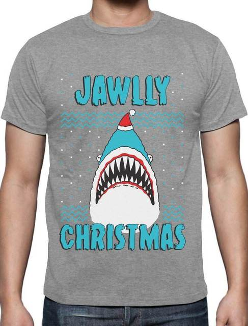 Jawlly Christmas Ugly Christmas Sweater For Xmas Party Shark T Shirt ...