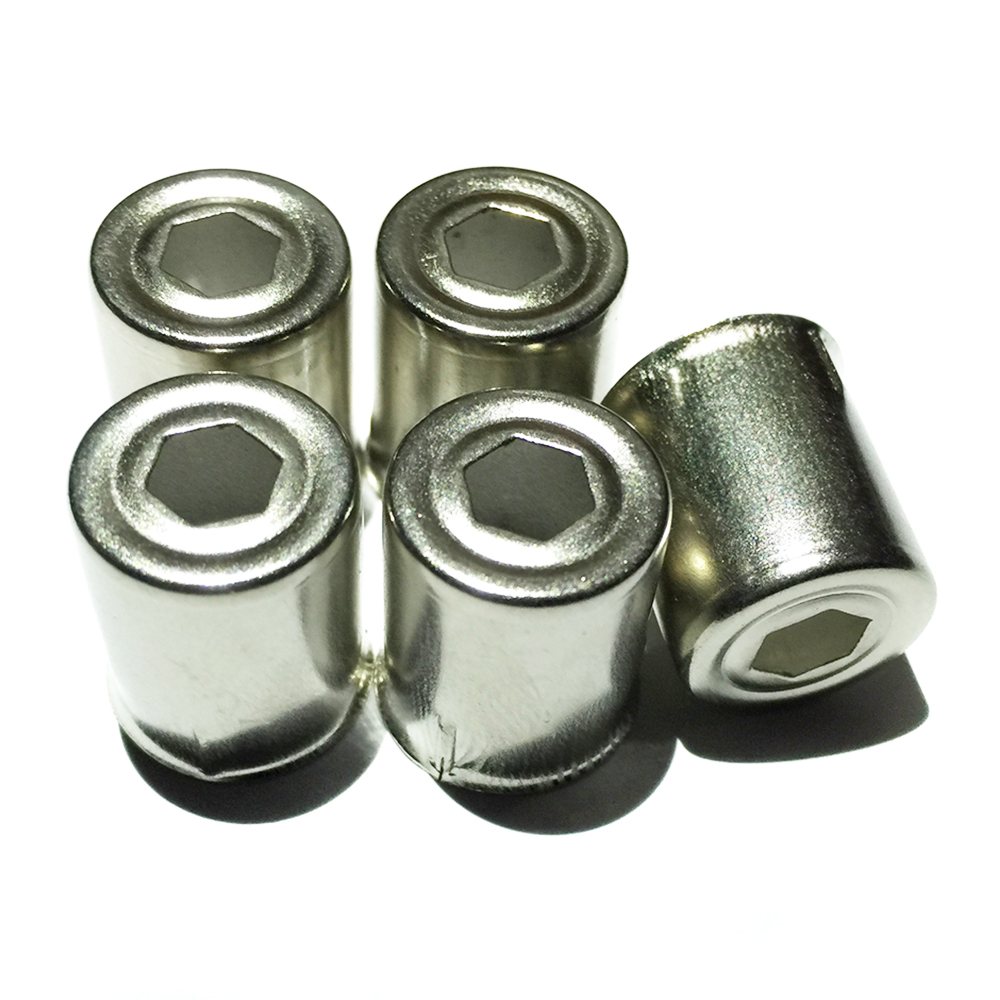 5Pcs/Lot Magnetron Steel Cap Microwave Oven Replacement Hexagonal Hole Silver Tone Home Kitchen Appliance Parts Accessories New