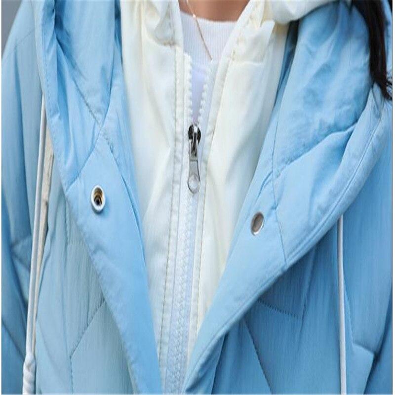 Coton blue Ouatée D'hiver Capuchon Bas red 2018 Vers Moyen Beige Lâche Mode brick White Épaissir yellow Veste De Femmes Vestes Bf Femalecq2763 long Hiver Le black Manteaux À aHvnSO