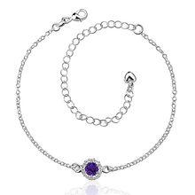 Браслет посеребренные ножной браслет серебро мода ювелирных ножной браслет 20 + 10 см для современных женщин ювелирные изделия djhg LA033-C