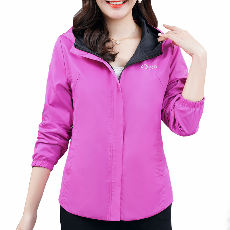 Women Jacket Autumn Casual Solid Hooded Outerwear Coats Female Slim Fit Hoodies Jackets
