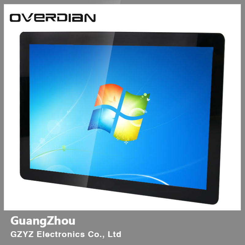 "19"" VGA/USB/DVI Interface Metal Frame Industrial Lcd Wide Screen Monitor 1440*900 Resistance touch Screen Buckle Fixed Display"
