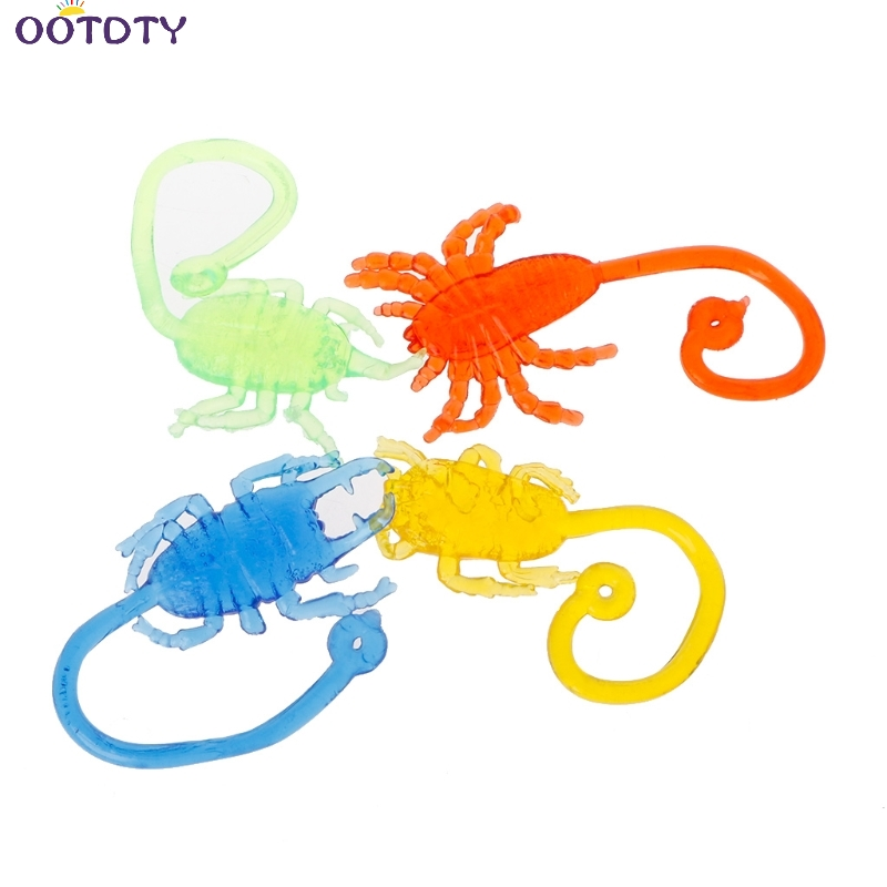 Sticky Stretchy Insect Classic Funny Kids Toy Climbing Animal Doll Party Favor