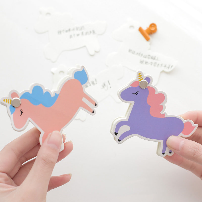 Kawaii Unicorn Post It Note Planner Creative Cactus Memo Pads Notepad For Writing Gift Cute Stationery Office School Supplies