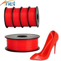 Anet 10 pces filamento da impressora 3d do pla filamento 1.75mm 1kg/carretel plástico haste de borracha fita materiais consumíveis 4 cores para a opção