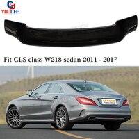C218 R Style Rear Trunk Wing for Mercedes CLS W218 Sedan CLS350 CLS400 CLS500 2011 2017 Carbon Fiber Spoiler