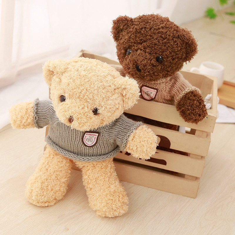 1PCS Kawaii Brand New Teddy bear kids plush toys High-quality Baby&Kids toys soft stuffed animals dolls for children gift the new arrival hot dress stuffed teddy bear doll sit plush dolls bears direct manufacturers wholesale for kids toys