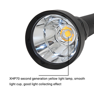 Image 5 - Siêu Sáng XHP70.2 LED Ánh Sáng Vàng 4000 Lumens Đèn Pin Lặn Chiến Thuật 26650 Đèn Pin Dưới Nước 100M Chống Nước