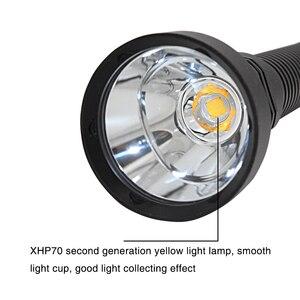 Image 5 - Superความสว่างXHP70.2 LEDสีเหลือง4000 Lumensไฟฉายยุทธวิธี26650ไฟฉายกันน้ำใต้น้ำ100เมตร