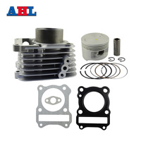 Motorcycle Engine Parts Bore Size 57mm Cylinder For SUZUKI GZ125 GZ 125 Air Cylinder Block & Piston & Cylinder Head Gasket