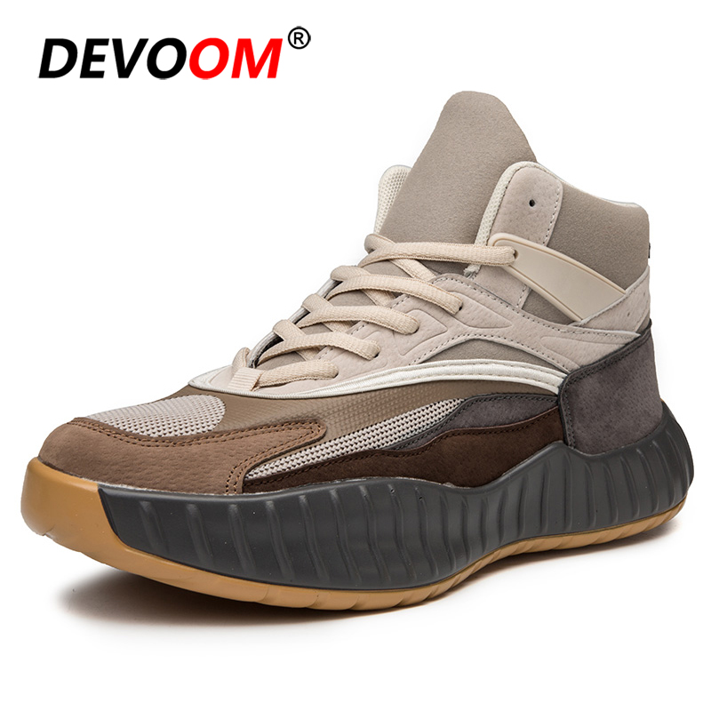meet 6e06a d84dc US $29.58 40% OFF|Men Casual Shoes Fashion Kanye West Winter Shoes Men 2018  New Suede Leather Shoes Men Sneakers Luxury Brand Baskets Homme 39 44-in ...