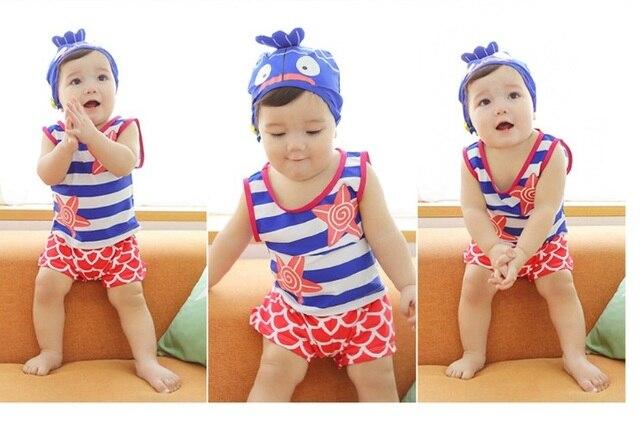 2015 новая детская ребенок купальник раскол купальник дети купальник три комплекта