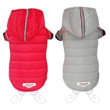 Одежда для собак, зимние теплые куртки для собак, щенков, чихуахуа, одежда с капюшоном для маленьких и средних собак, щенок йоркширского терьера, наряд XS-XL