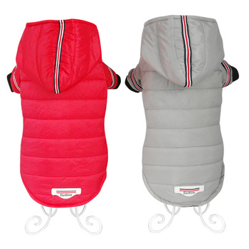 Warm Dog Jacket with Hoodie Made of Soft Polyester to Protect Dogs from Cold