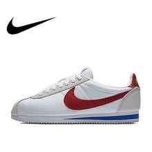 separation shoes 244f8 ab32c Original Officiel Nike CLASSIQUE CORTEZ chaussures de course Sport Sneakers  chaussures plates des Femmes Imperméables à