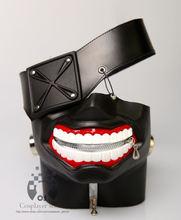 New Version  Luxury LATEX  Tokyo Ghoul Ken Kaneki  mask with Adjustable Zipper Japan Anime cosplay halloween prop gift