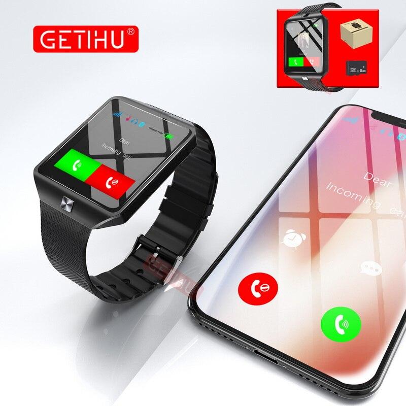 DZ09 Smartwatch Sport SIM Numérique Électronique Poignet Téléphone Montre Smart Watch Avec Hommes Femmes Pour Apple Android Wach Dispositifs Portables
