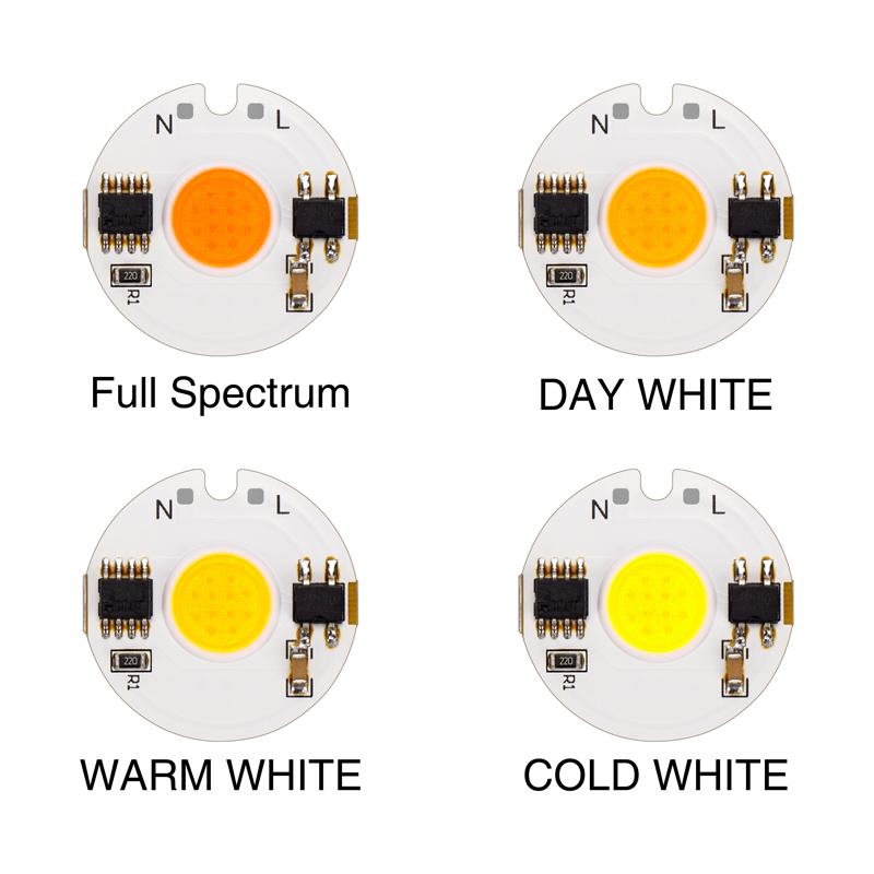 5PCS LED COB Chip Lamp 9W 7W 5W 3W AC 220V COB Chip Diodes Surface Light For DIY LED Spotlight Floodlight Light Cold Warm White