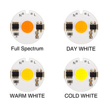 5PCS LED COB Chip Lamp 9W 7W 5W 3W AC 220V COB Chip Diodes Surface Light For DIY LED Spotlight Floodlight Light Cold Warm White(China)
