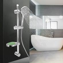 G1/2 Wall Mount Shower Faucet Set Rainfall Handheld Head Hose Lift w/ Soap Case Sprayer bathroom shower set