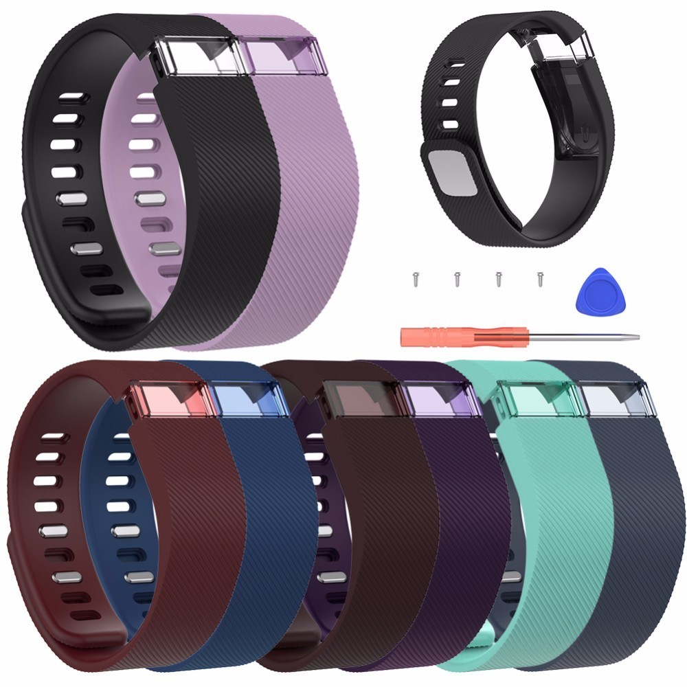 High Quality Silicone Replacement Watch Strap Wristband S/L Size For Fitbit Charge Smart Bracelet with Tools Wrist Strap