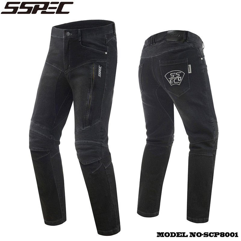 SSPEC Motorcycle Jeans moto Autocycle Protection Pants Motocross Hip protector moto Trousers Racing Knee pads Motorcycle Jean free shipping 1pcs motorcycle biker distressed pants denim trousers protection pads