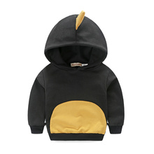2016 Winter Autumn Hoodie Baby Boys Girls Dinosaur Angle Cotton Jumper Tracksuits Tops Hoodies Clothes 1-5 Years