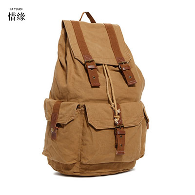 Men's  Canvas Backpack Zipper Rucksacks Laptop Travel Shoulder Mochila Notebook Schoolbags Vintage College School Bags black chic canvas leather british europe student shopping retro school book college laptop everyday travel daily middle size backpack