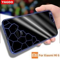 xiaomi mi6 case silicone transparent Original Yagoo Luxury tpu xiaomi mi 6 case 360 Full Protector Xiaomi 6 PC Hard Back cover