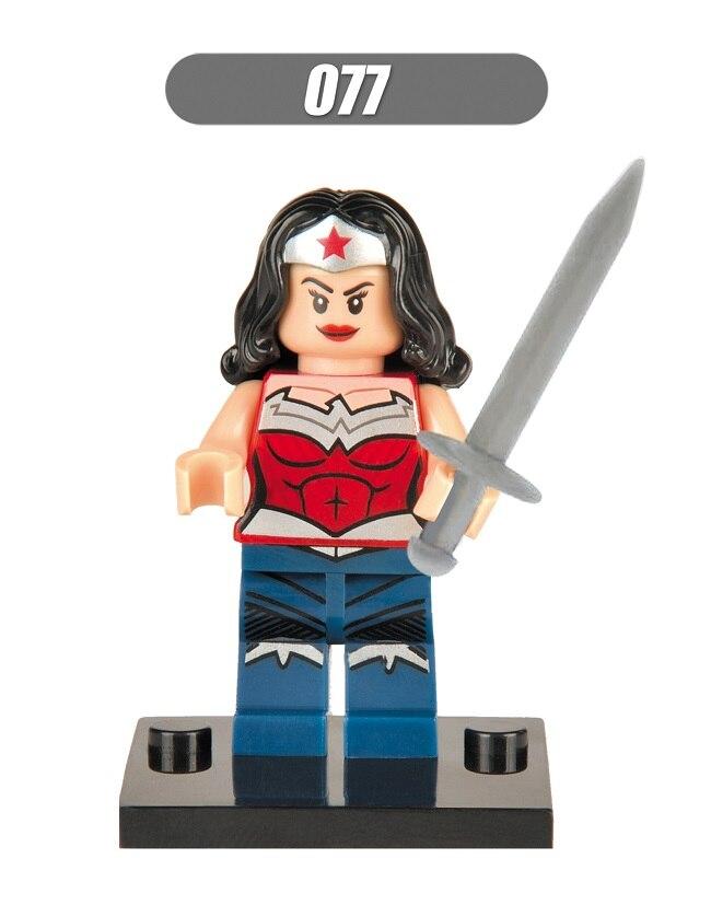 Одной продажи супер героев Звездных Войн чудо женщина Бэтмен Женщина-кошка JOKER кирпичи действие строительные блоки подарок детям игрушки XH ...