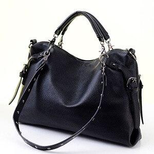 Image 5 - حقيبة يد نسائية من الجلد الصناعي موضة جديدة 2020 مصنوعة من جلد البقر الأسود/الفضي حقيبة يد كبيرة بكتف واحد Z474