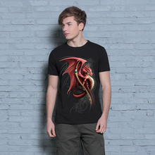 New 2016 Men's Fashion Tops Double Side Printed 3D Pattern Dragon Dry Quickly T Shirt Casual Brand Design T-Shirt
