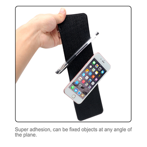 Image 4 - אנטי להחליק Mat עבור טלפון רכב לוח המחוונים דביק Pad ג ל קסם החלקה מחצלת מחזיק PU רכב פנים עבור GPS עור מרקם שחור