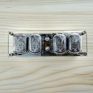 Image 5 - 4 bit integrated glow tube clock IN 12A IN 12B clock glow tube Colorful LED DS3231 nixie clock Magic Eye LED Backlight