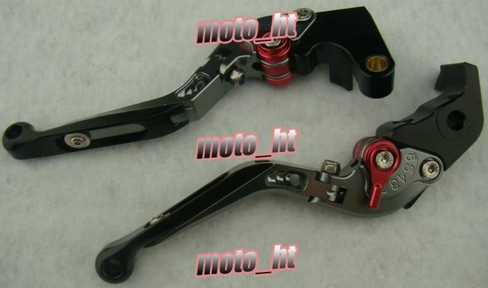 Складные сцепные рычаги Набор для Yamaha 2004 2005 2006 2007 2008 YZF R1 и 2005-2010 YZF R6 серый