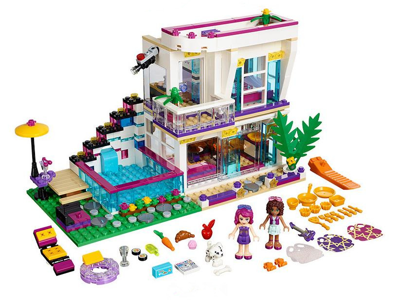 644Pcs Livi's Pop Star House Model building kits Compatible Lepining Friends 41135 Emma Mia 3D Bricks Figure toys <font><b>10498</b></font> image