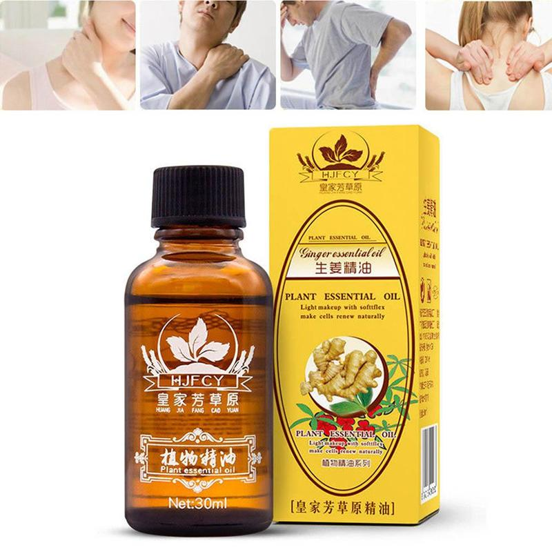 30ml Ginger Essential Oil For Skincare Scrape SPA Body Massage Natural Plant Therapy Lymphatic Drainage Ginger Blood Circulation