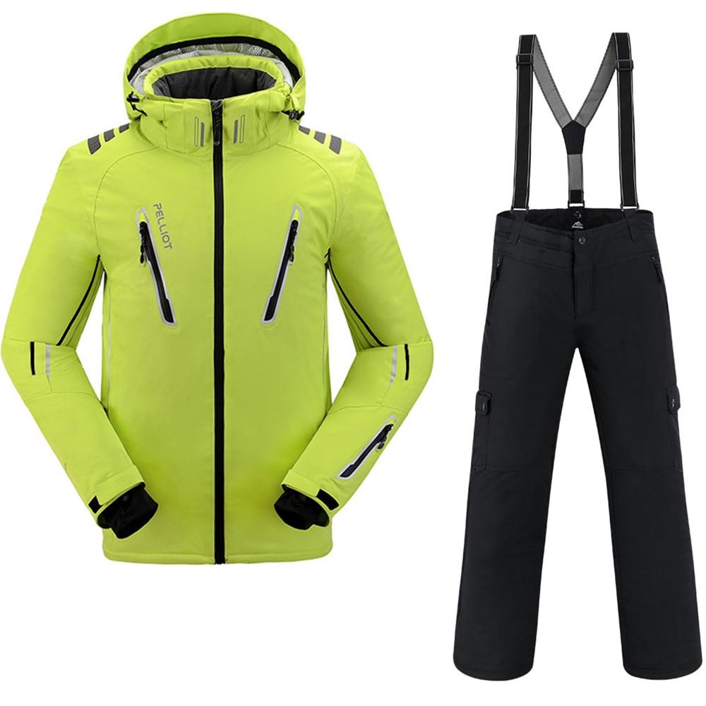 Combinaison de Ski hommes Pelliot veste de Ski + Saenshing Snowboard pantalon respirant Ski Snowboard hiver neige ensemble Super chaud imperméable - 3