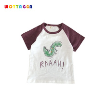 WOTTAGGA 2019 Summer Boys Shirts Cotton Children T-shirts Colored Tops for Boys Short Sleeve Kids Blouse Toddler Tees Baby Cloth new 2017 brand quality 100% cotton baby boys shirts summer kids clothing children clothes short sleeve t shirts baby boys blouse