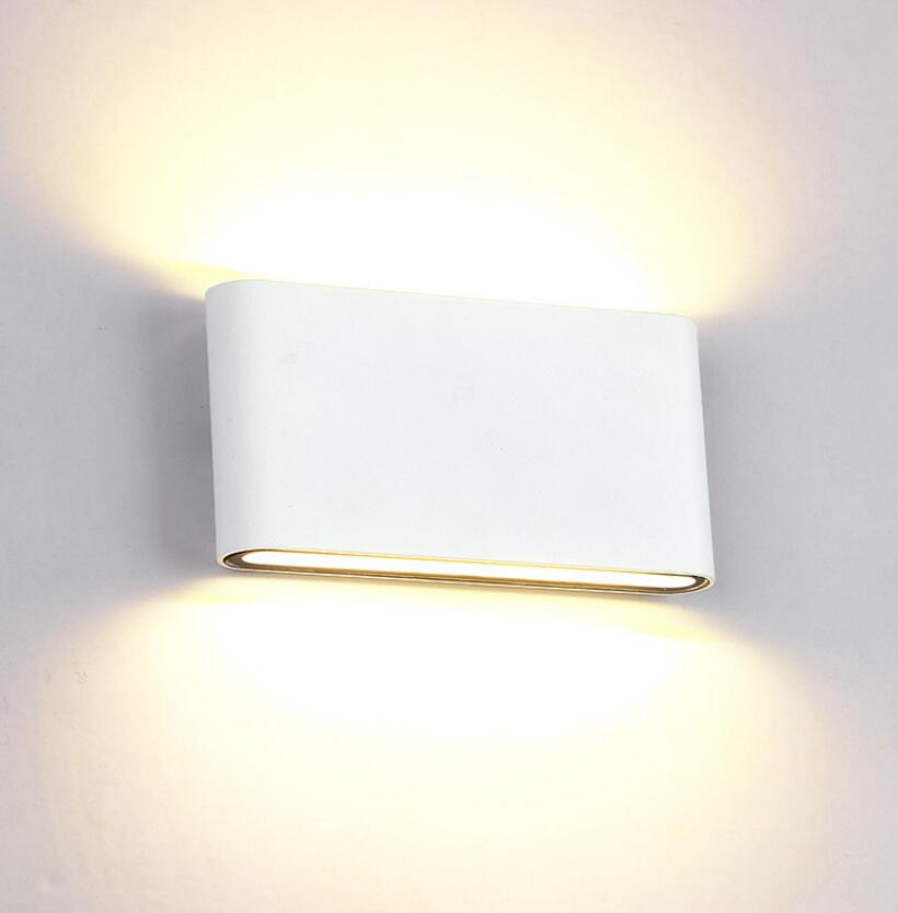 6W 12W LED Outdoor Wall Lamp IP67 ASWAY Surface Mounted Outdoor Cube LED Wall Light,White/Black up and Down Wall Light CE RoHS