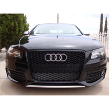 RS4 Style Black Front Bumper Mesh Grill Grille Car-styling For Audi A4 B8 2009~2012