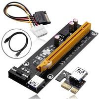 6pcs Lot PCI E Riser Card Pci E Extender PCIE 1x To 16x Adapter 60CM USB