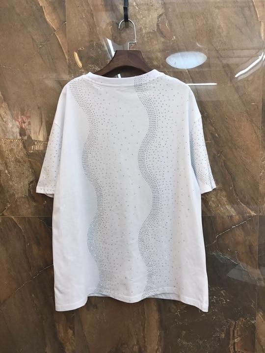 Col De ongles Printemps shirt T Coupe Femmes Nouvelles Courtes Lourd Court Manches Travail Rond 2019 À T Impression w0RqR5