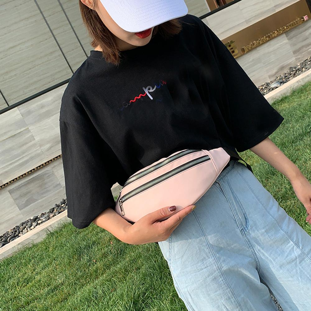 2019 Unisex Banana Bag Fashion Double Pack Zipper Belt Bags Leather Fanny Pack Shoulder Casual Chest Belt Bag For Ladies J26