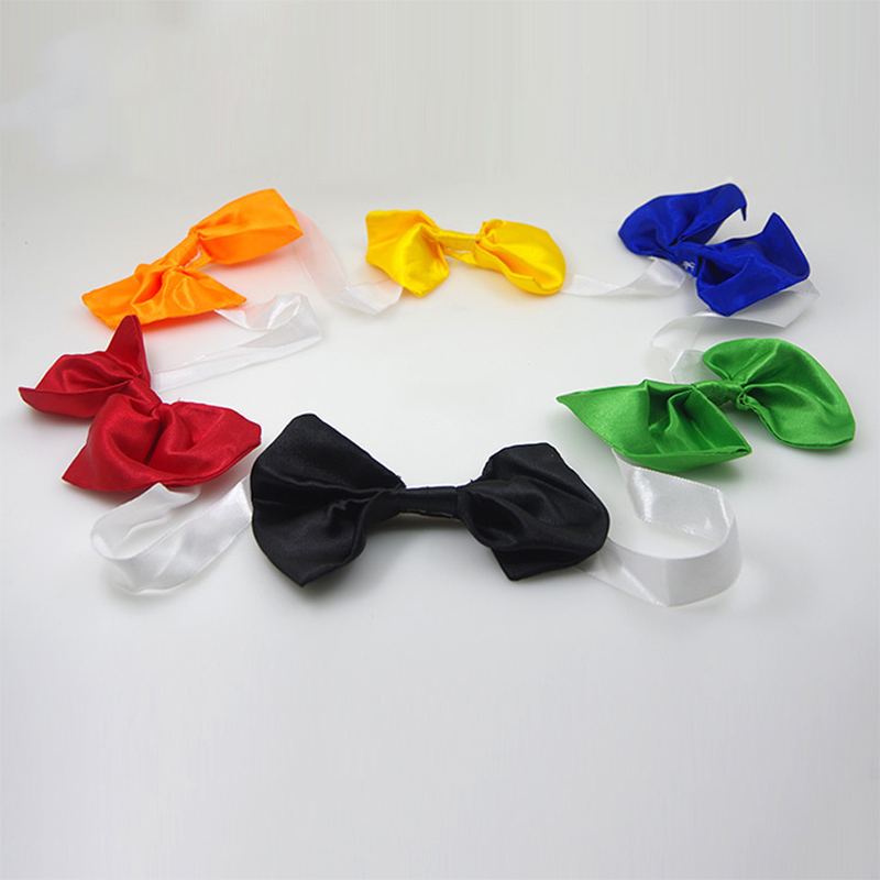 Quick Change Bow Tie Magic Tricks Bow Tie Discolor Magic Props Close Up Stage Magic Toy Children Fun Easy Magie Magician 83224