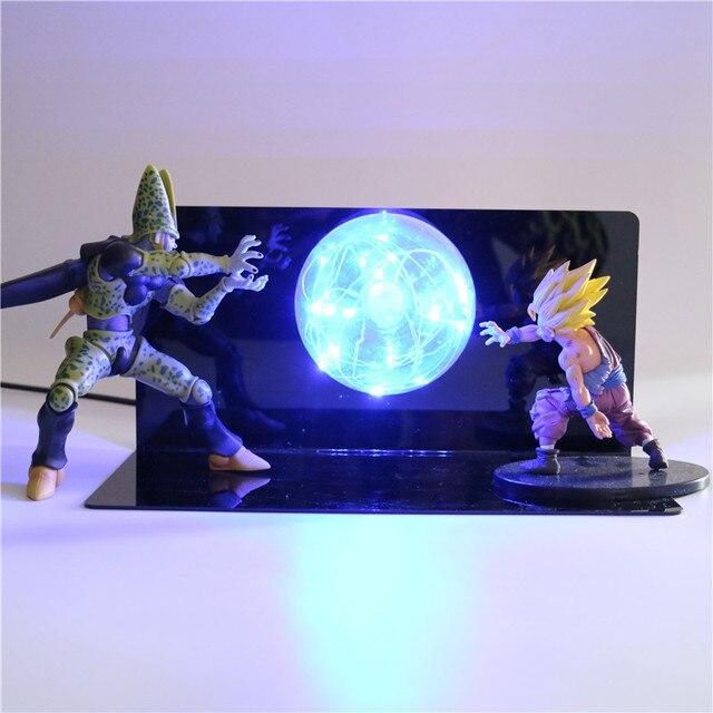Dragon Ball Z Figuras de Ação Celular DBZ Super Goku Gohan Anime Figura Collectible Figurine Luz Noturna para Crianças Bebê Crianças brinquedos