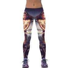 2016New Science fiction 3D figure fashion Sexy Women Casual Height Cartoon Elastic Slim Jeggings Vestido Sporting Legging