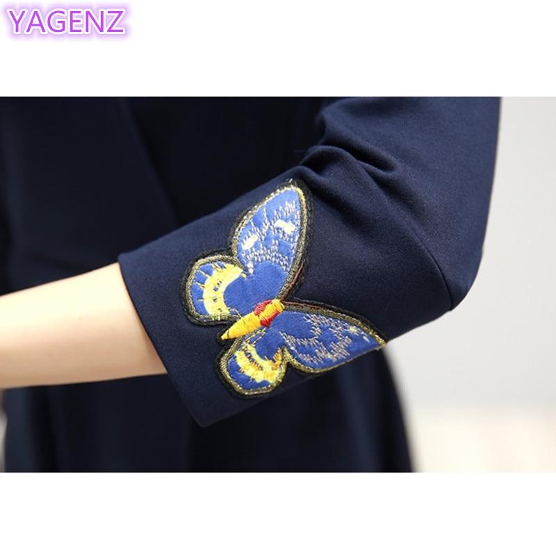 YAGENZ Fashion Gaun Elegan Kupu-kupu Bordir Dresses Plus ukuran Gaun - Pakaian Wanita - Foto 4